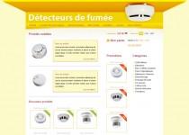 Maquette web page détecteur de fumée