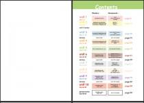 Visuel de la mise en page du cahier d'exercices d'anglais langue étrangère pour enfants, niveau 1 / Kids English level 1 workbook page-setting picture