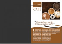 Image d'un dépliant 4 pages sur le café / a picture of a four pages brochure