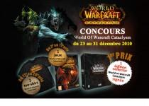 Bannière promotionnelle pour un jeux concours World of Warcraft
