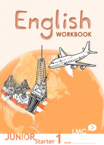 Couverture du cahier d'exercice d'anglais pour adolescents, niveau junior starter 1 / Junior Starter English workbook cover, level 1