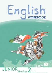 Couverture du cahier d'exercice d'anglais pour adolescents, niveau junior starter 2 / Junior Starter English workbook cover, level 2