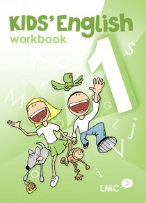 Couverture du cahier d'exercice d'anglais pour enfants, niveau 1 / Kids English workbook cover, level 1