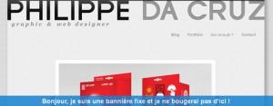 Capture écran du site philippe.dacruz