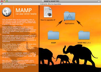 Panneau d'installation de Mamp