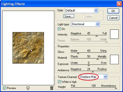 Image 5 du tutoriel sur la texture de la roche.