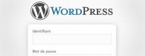 Page de connexion WordPress