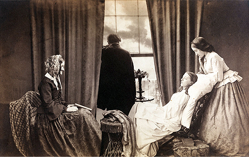 Fading away, 1858 de Henry Peach Robinson
